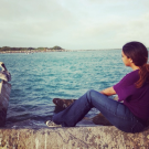 Admirando las aves en Fort Pierce, Florida